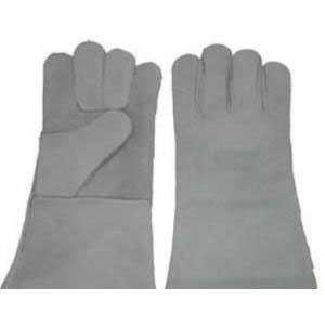 Mega Grey Leather Gloves with Lining
