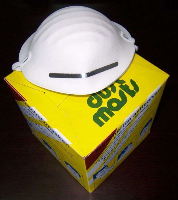 Disposable Dust Mask Yellow